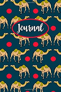 Camel Journal: Lined Notebook To Write In, Blank Notebook With Cute Camel Pattern Cover, Camel Gifts For Teens & Adults.