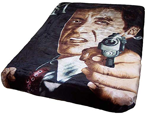 Scarface Respect Plush Mink Blanket Queen Size (79' x 95')