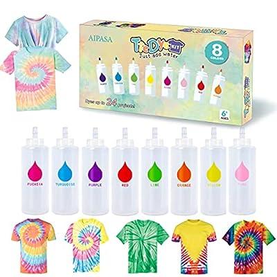 Tie Dye Kit, 8 Colors 16 Dye Packets for Tie Dy...