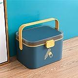 DOILE Gabinete de almacenamiento portátil para el hogar o al aire libre, caja de almacenamiento de material PP grueso, tres colores a elegir (M-azul)