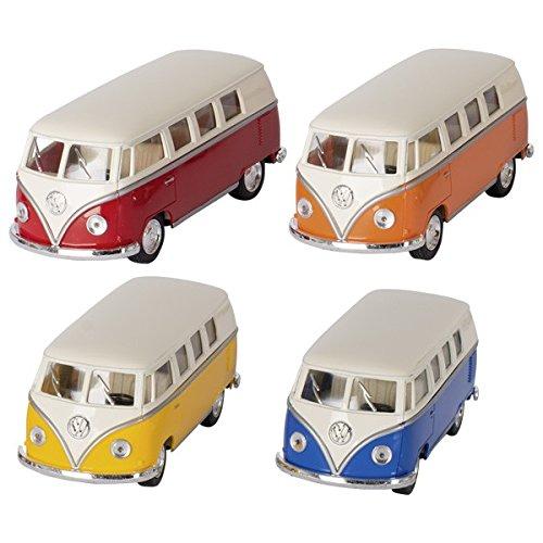 Goki 12234 Volkswagen Microbus (1962), 1:32, L= 13,5 cm, Rückzugmotor (Farbe zufällig, 1 Stück)