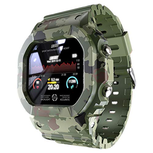 AKL Ocean Smart Watch Fitness Tracker Presión Arterial Mensaje Push Heart Rate Monitor Reloj Reloj Inteligente Hombres y Mujeres,B