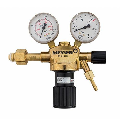 Messer Argon CO2 Druckminderer Druckregler Gasarmatur MIG MAG WIG TIG