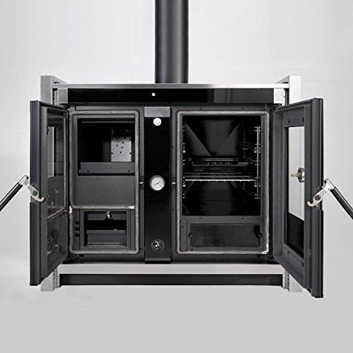 La Nordica - Termocucina a Legna Italy Termo Built-In D.S.A. Finitura Inox da 99,6cm