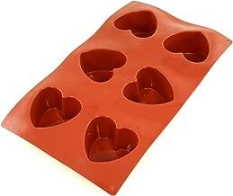 World Cuisine Non-Stick Silicone Mold, Heart, Mini