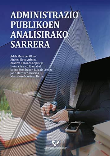 Administrazio publikoen analisirako sarrera (Unibertsitateko Eskuliburuak - Manuales Universitarios)