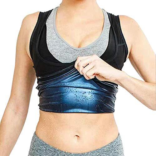N\P Nuevo Traje de Cuerpo Caliente para Mujer para Adelgazar, Quema de Grasa, Moldeador de Sudor, Chaleco de Fitness para Sauna, Camisetas sin Mangas para Gimnasio