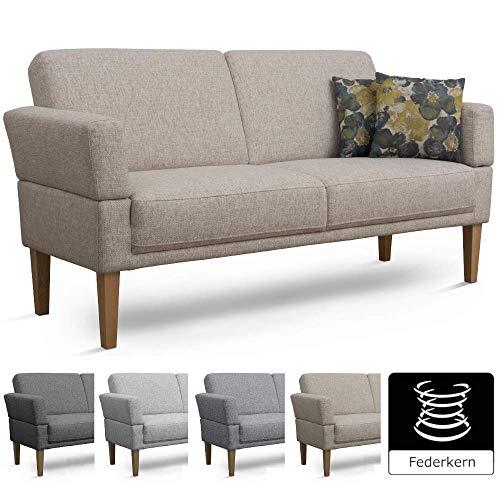 Cavadore 3-Sitzer Sofa Femarn mit Federkern / Küchensofa für Esszimmer oder Küche / 190 x 98 x 81...