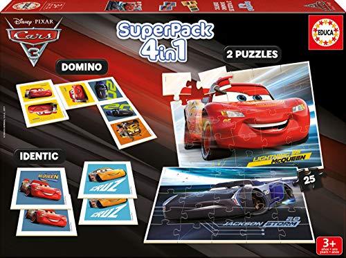 Cars Superpack 4 Juego en 1 (Educa Borrás 17199)