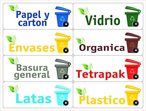 ATKOFFICE ATK 24 Etiquetas para la gestión de los residuos – Kit Bin – 120 x 45 mm