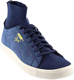 PUMA Men's Clyde Sock Select Mid-Top Leather Fashion Sneaker