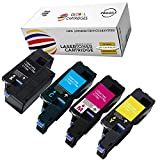 Global Cartridges Compatible Toner Cartridge Set Replacement for Dell 1250/1350 / 1355 / High Yield 331-0777, 331-0778, 331-0779, 331-0780(Black,Cyan,Yellow,Magenta)