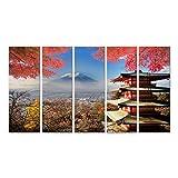 Bild Bilder auf Leinwand Mt. Fuji mit Herbstfarben in