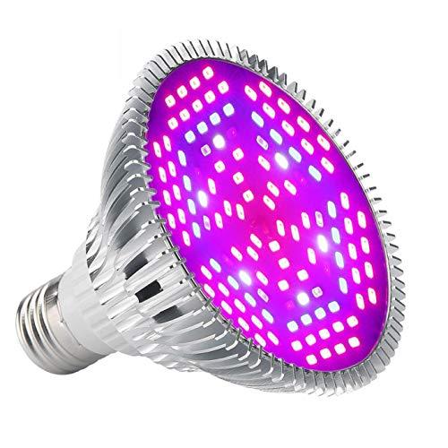 ZJING Led Grow Light Bulb Full Spectrum,Plant Light Bulb with Leds for Indoor Plants,E26/E27 Socket,Grow Lamp for Hydroponic Indoor Garden Greenhouse Succulent Veg Flower,100W