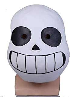 Molagogo Deluxe Latex Game Undertale Sans Full Head Mask Cosplay Costume Helmet Party Fancy Ball Halloween