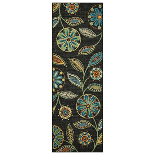 Maples Rugs Reggie Floral Runner Rug Non Slip Hallway Entry Carpet [Made in USA], Multi, 2 x 6