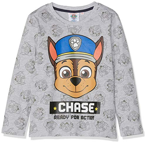 Paw Patrol Jungen T-Shirt 2378, Grau Gris, 6 Jahre