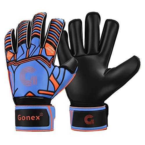 Gonex Guantes de Portero Futbol Adulto Hombres y Mujeres con Proteccion Dedos Goalkeeper Glove 3,5mm Agarre Superior