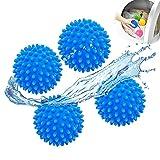 Bola Secadora,Bolas Secadora de Ropa,Bolas de Secado Reutilizables Suavizante Natural Consigue Menos Arrugas en la Ropa y para Acelerar el Secado,4 Piezas (4 azules)