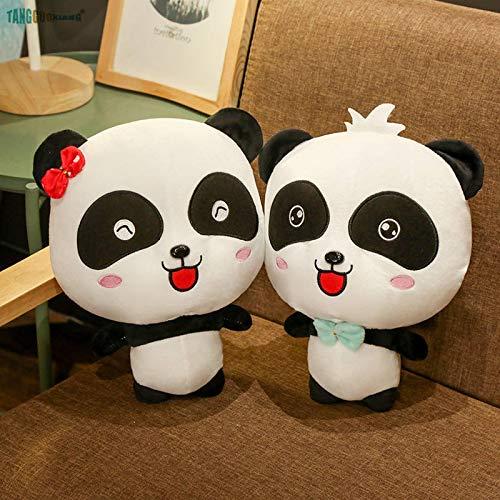 KINGPO 35cm BabyBus Coppia Carina Panda Morbido Peluche ripiene Animali Giocattoli Panda Giocattolo Cartone Animato Bambole per Bambini Regali di Natale di Compleanno per Bambini