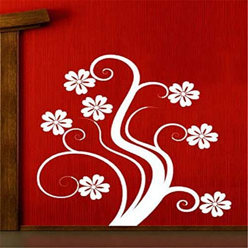 Decorazioni per la casa in stile vintage Arte da parete su misura Un bellissimo fiore a forma di fiore Adesivi murali Frigorifero da cucina D 59 * 67Cm