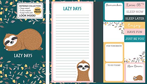 Book of Sticky Notes: Notepad Collection (Sloth Lazy Days)