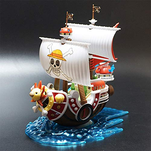 Anime One Piece Thousand Sunny Pirate Ship Model DIY Assembled Boat Models Decoration Collectible Toys for Children Gifts