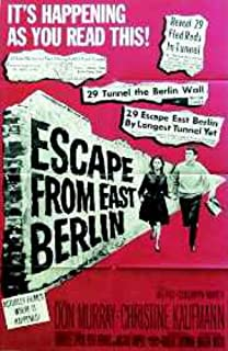 Escape From East Berlin Don Murray Christine Kaufmann 27X41 Original Movie Poste