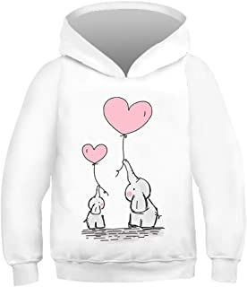 Boys Girls Hoodies Long Sleeves 3D Real Cartoon Printed Pullovers Novelty Sweatshirts Jumpers Kids 8-14 Year Old