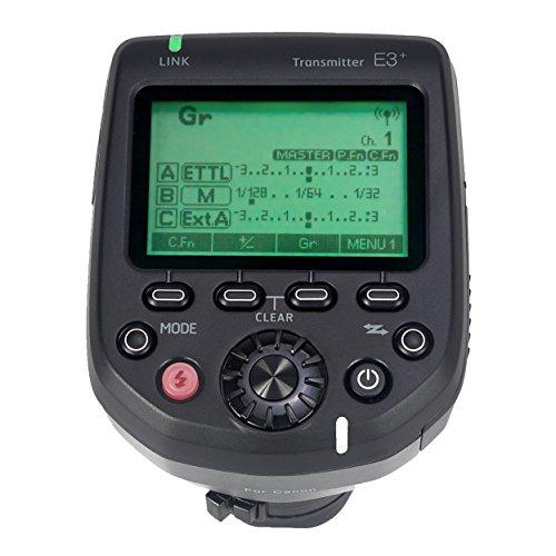 AODELAN E3+ Flash Speedlite trasmettitore flash trigger per Canon 600EX-RT, 600EX II-RT, 430EXIII-RT, sostituisce Canon ST-E3-RT