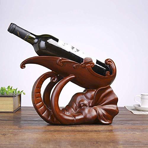 CMMT Estante de Vino Estante de Vino Europeo Estante de Vino de Cabeza de Elefante Creativo Titular de Botella de Resina de Moda Regalo decoración de gabinete de Vino