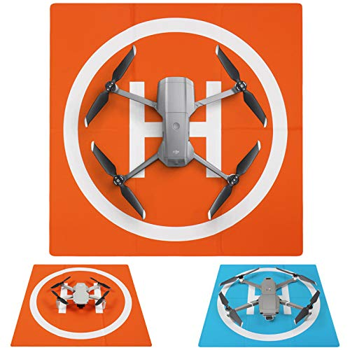 Symik Drone Landing Pad Elite Double-Sided Waterproof 20 inch (50cm) Portable Fast-Fold Helipad, Compatible with DJI Mavic Mini, Mavic Air 2, Mavic 2 Pro, Zoom, Mavic Air, Mavic 3 Pro, Phantom Series