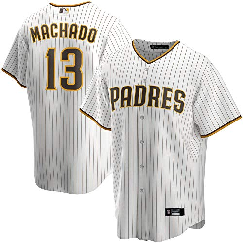 Outerstuff Manny Machado San Diego Padres #13 White Stripes Youth 8-20 Home Player Jersey (8)