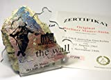 AUTHENTIC PIECE OF BERLIN WALL with CERTIFICATE - Conrad Schumann 'Jump To Freedom' Design - Authentic Historic German Artifact Souvenir from Europe