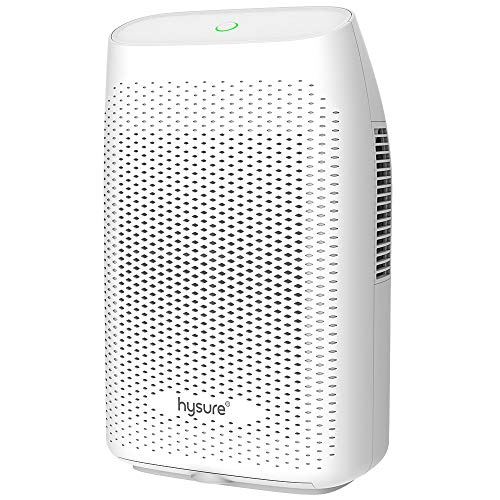 hysure Dehumidifier 2000ml, Electric Dehumidifiers with Easy Clean Filter and Auto-off, Ultra Quiet Air Cleaner for Help Dry Home Bedroom Bathroom Closet Wardrobe Caravan Office