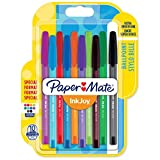 Paper Mate InkJoy 100 CAP Lot de 10 Stylos bille pointe moyenne Couleurs Assorties