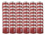Alpen Camping Paquete de 48 cartuchos de gas perforables de 190 G con limitador de fugas interno para estufas, lámparas, sopletes