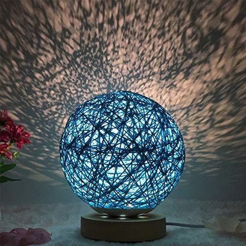 Lixada Lámpara de mesa redonda Luna luces nocturnas lámpara de bola USB lámpara de escritorio en...