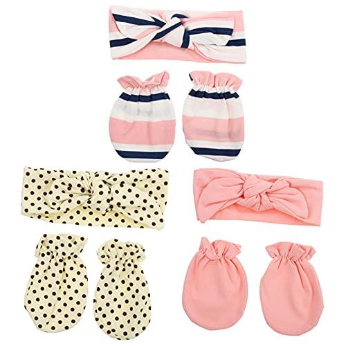 ABOOFAN Bowknot Cabeça Anti-Scratch Luvas Mittens Do Bebê Nó Cabeça Wraps Recém-Nascidos Infantil Turabn Faixa de Cabelo para O Infante Do Bebê Meninas