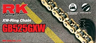 RK Racing Chain GB525GXW-116 Gold 116-Links XW-Ring Chain with Connecting Link