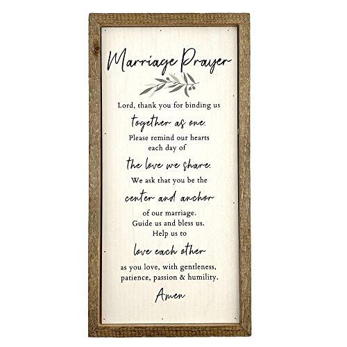 Kingdom Quality Marriage Prayer Wall Decor - Classy Wedding Gift or...