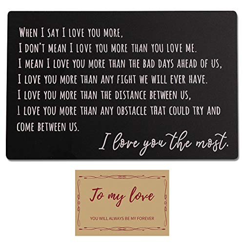 Engraved Wallet Insert Anniversary Gifts for Men Boyfriend Gifts for Him Personalized Gifts for Men...