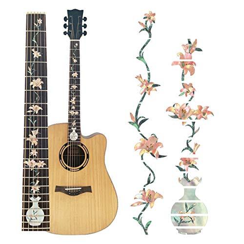 potente comercial pegatinas para guitarras pequeña
