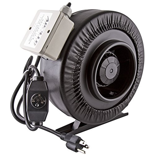 Apollo Horticulture 4' 6' 8' Inch Inline Fan with Built in Variable Speed Controller - Choose Your Size (8' Inch)