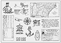 セーラー透明クリアシリコンスタンプ/DIYスクラップブッキング用シール/アルバム装飾クリアスタンプシートA1778