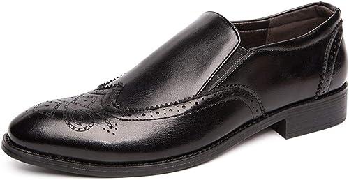 SJNJ  X2019 Chaussures Oxford à Semelle Plate et élastique pour Homme