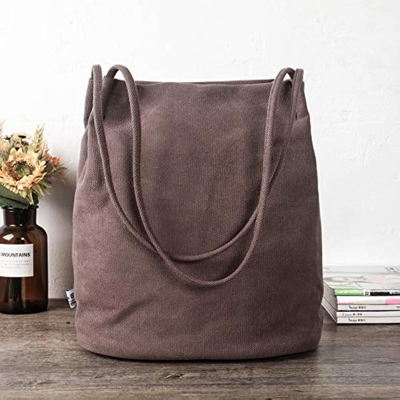 WANGZHAO Canvas Bag, Art Bag, Shoulder Bag, Water Bag, Female Bag, Simple Harbin, Cotton, Linen, White and bluee.