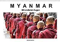 Myanmar - Mit anderen Augen (Wandkalender 2022 DIN A3 quer): Myanmar in Schwarz-Weiss-Bildern mit Farbe (Monatskalender, 14 Seiten )