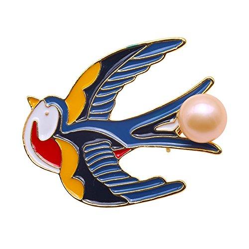 jyx Pearl Brosche Süßwasserperle Broschen Pins swallows-style Corsage Hochzeit Bouquet Decor für Frauen
