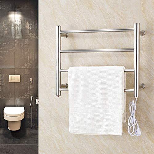 Toallero calefactable toallero toallero, calentador de toallas, calentador de toallas, calentador de toallas eléctrico de última generación en 2020 (tamaño: enchufe)